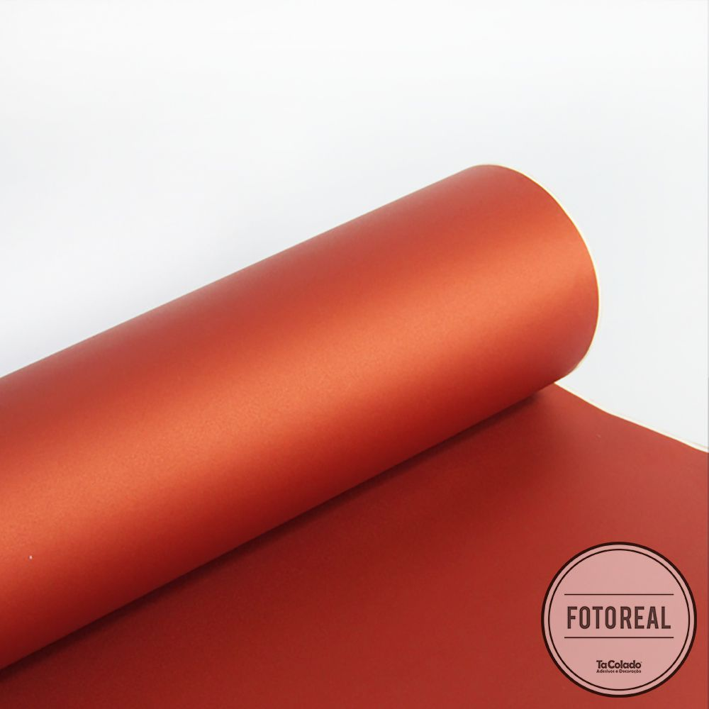 Outlet - Adesivo para Móveis Jateado Copper Metallic 0,61x0,70m  - TaColado
