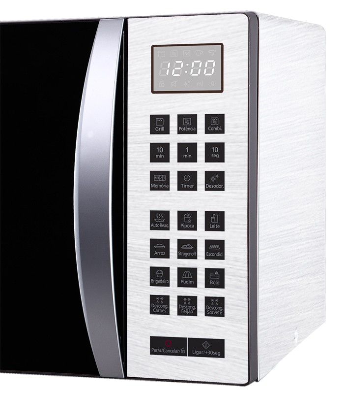 Outlet - Adesivo para Geladeira Escovado Branco 0,50x0,80m  - TaColado