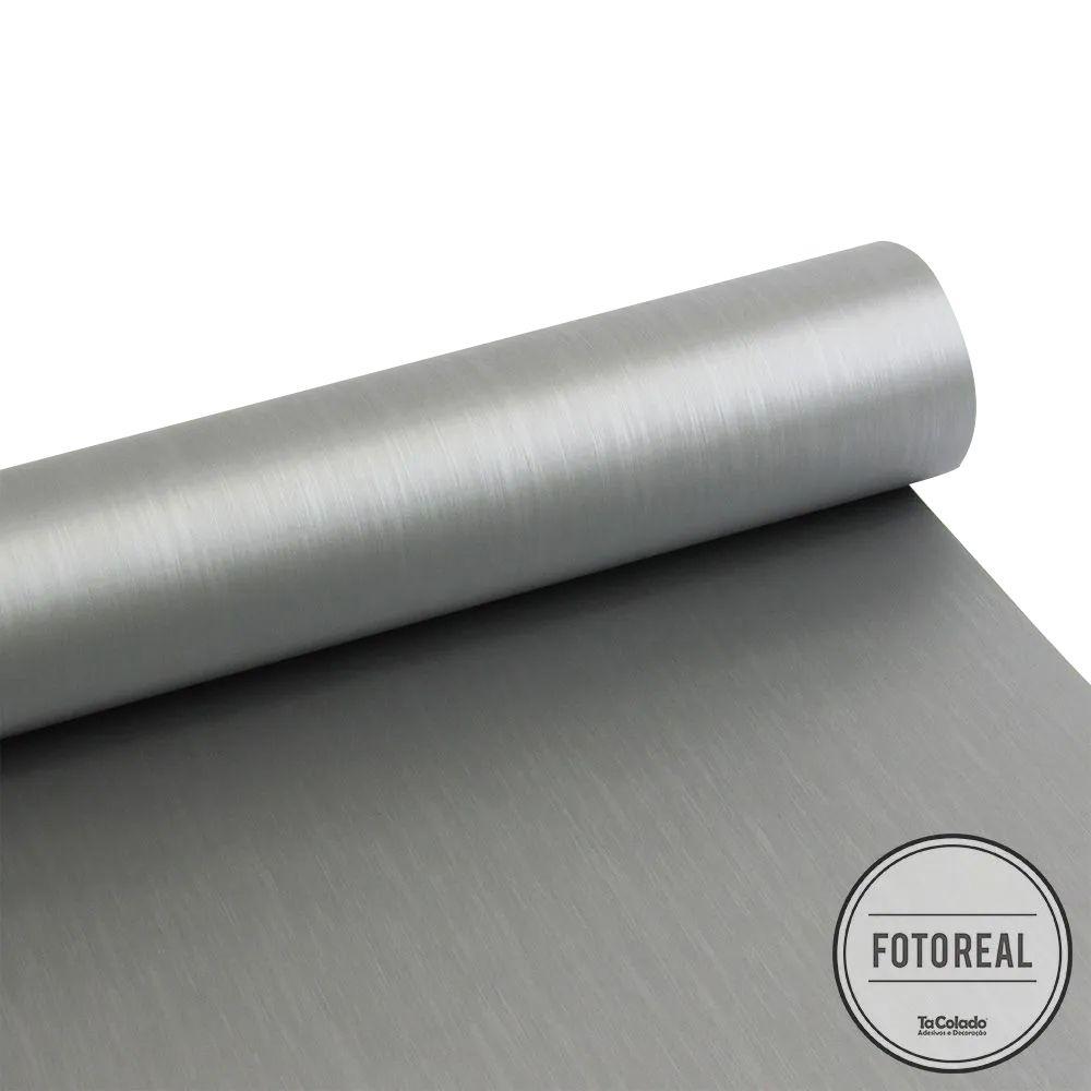 Outlet - Adesivo para Geladeira Escovado Inox 0,61m  - TaColado
