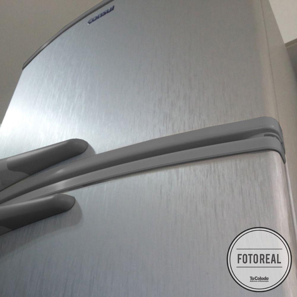Outlet- Adesivo para Geladeira Escovado Prata 0,50m  - TaColado