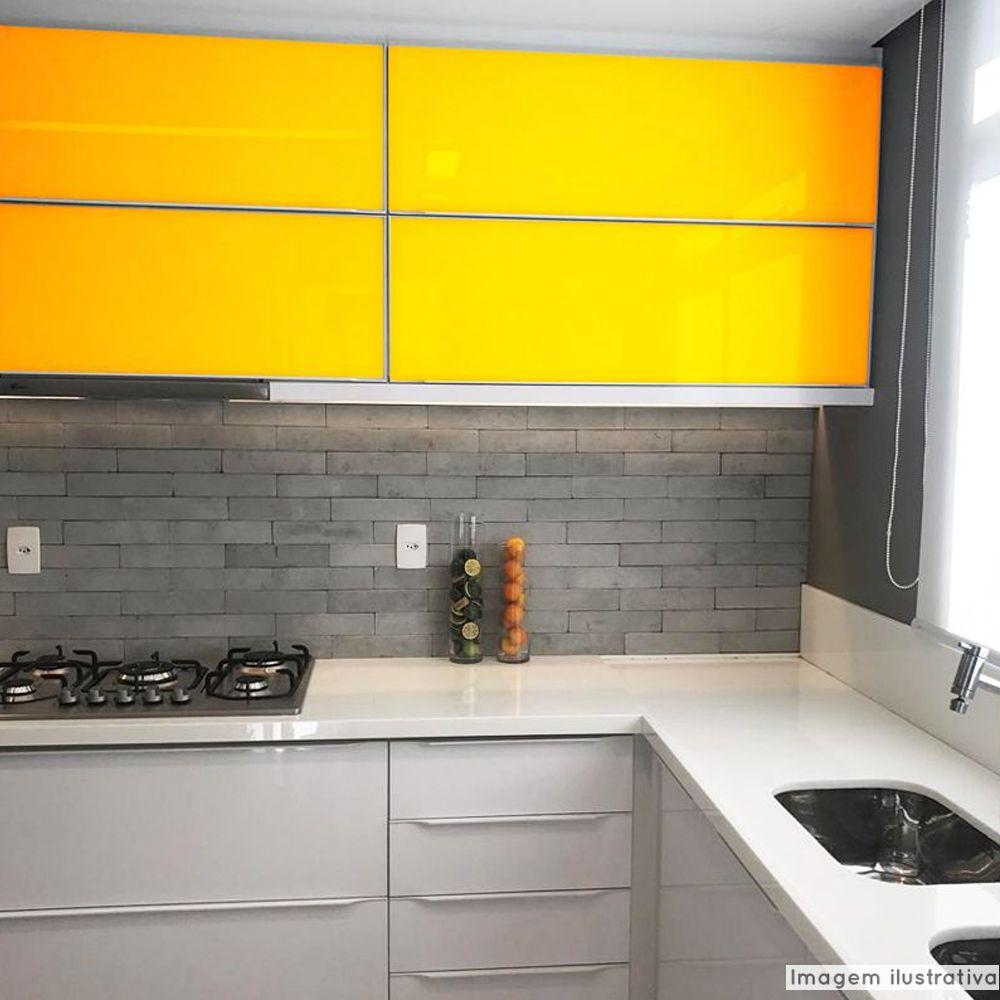 Outlet - Adesivo para móveis Laca Alto Brilho Amarelo Ouro 0,61m  - TaColado