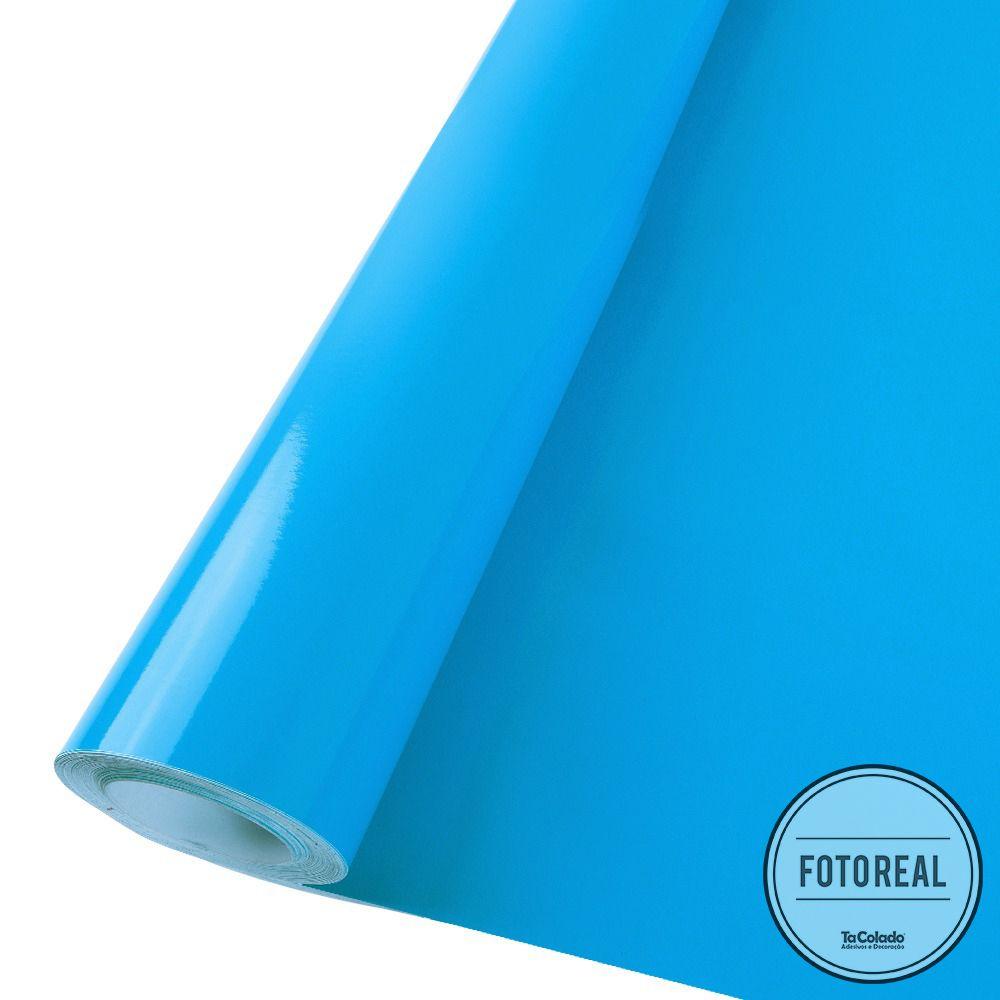 Outlet - Adesivo para Móveis Brilhante Azul Céu 0,50x1,00m  - TaColado
