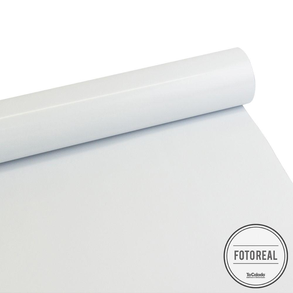 Outlet - Adesivo para Móveis Brilhante Branco Bloqueador 0,61x1,00m  - TaColado