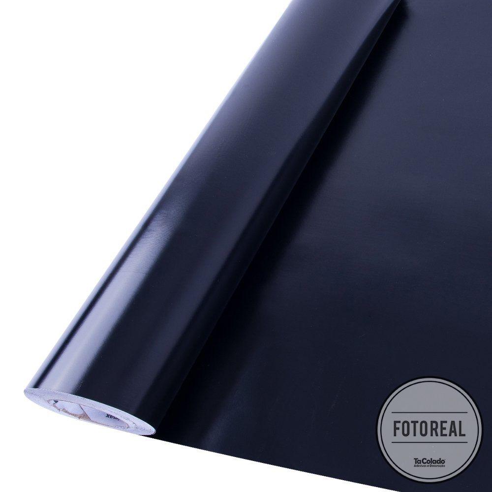 Outlet- Adesivo para Móveis Brilhante Preto 0,61m  - TaColado