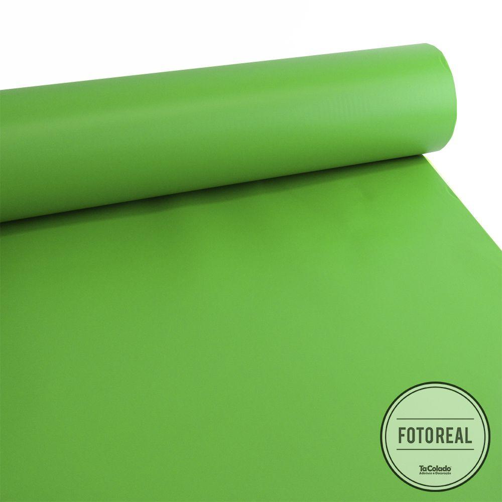 Outlet - Adesivo para Móveis Fosco Verde Jardim 0,50m  - TaColado