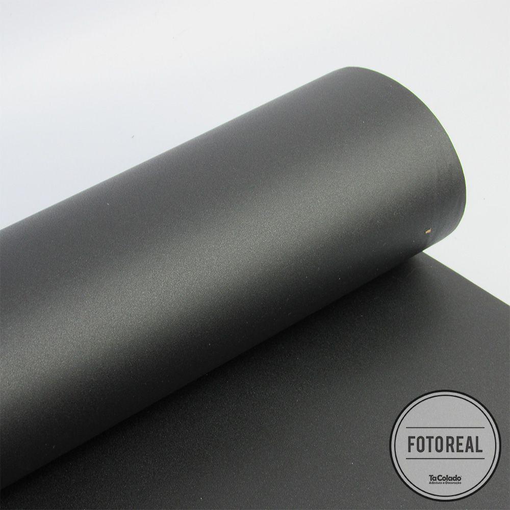Outlet - Adesivo Para Móveis Jateado Charcoal 0,50x2,50  - TaColado