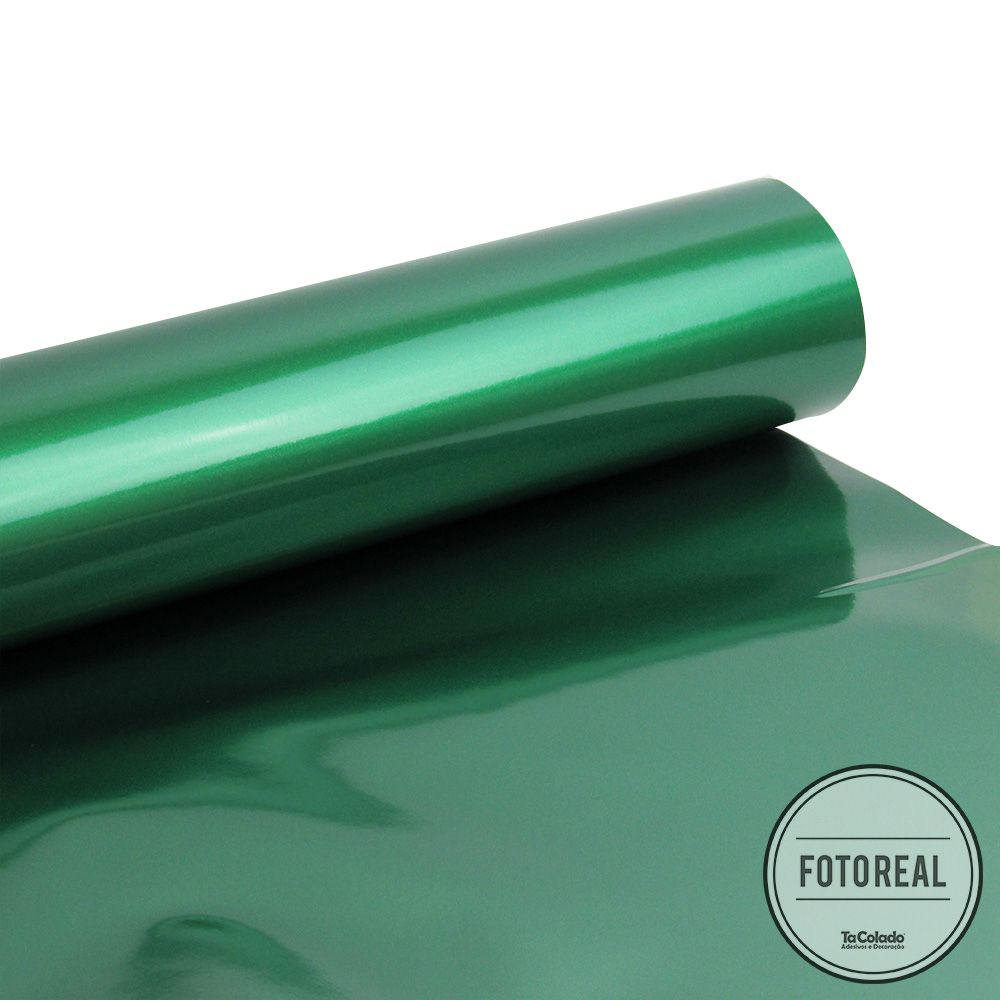 Outlet - Adesivo para Móveis Laca Alto Brilho Green Metallic 0,61x1,00m  - TaColado