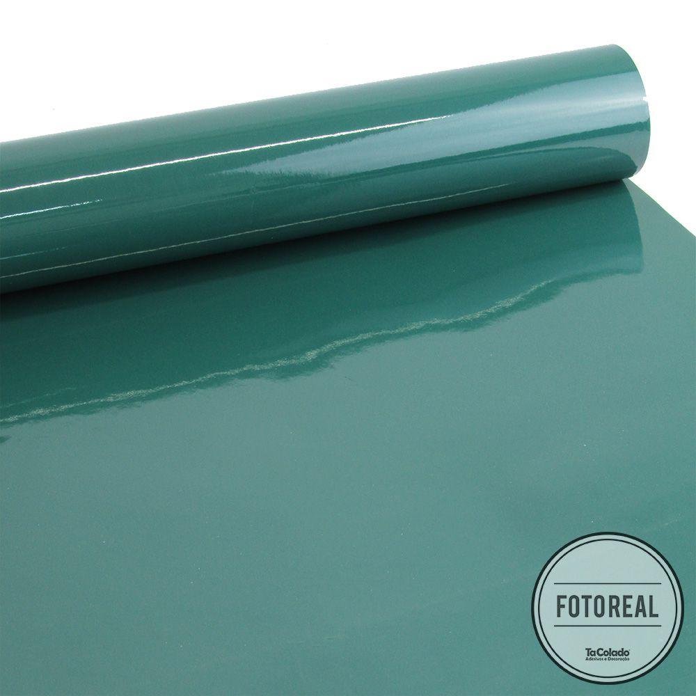 Outlet - Adesivo para Móveis Laca Alto Brilho Verde 0,61m  - TaColado