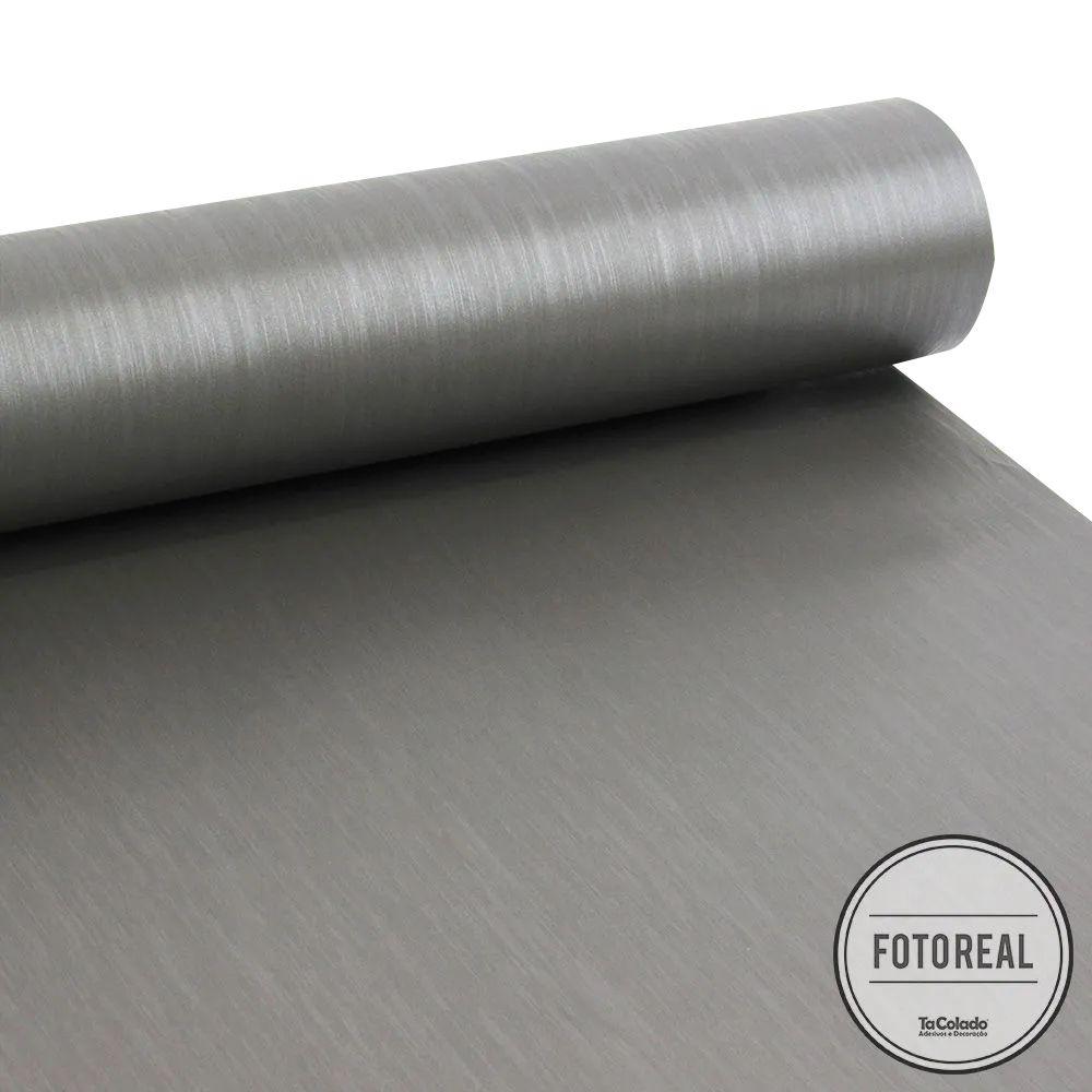 Outlet - Adesivo para Geladeira Escovado Grafite 0,61x1,00m  - TaColado