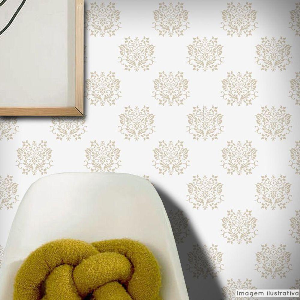 Outlet - Papel de Parede Arabesco Dubai Cinza 0,58x2,80m  - TaColado