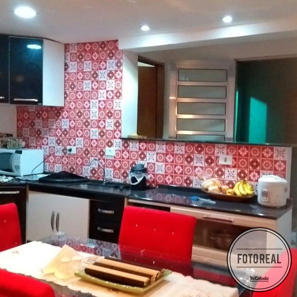 Outlet - Papel de Parede Azulejo para Cozinha Badalona 0,58X2,10  - TaColado