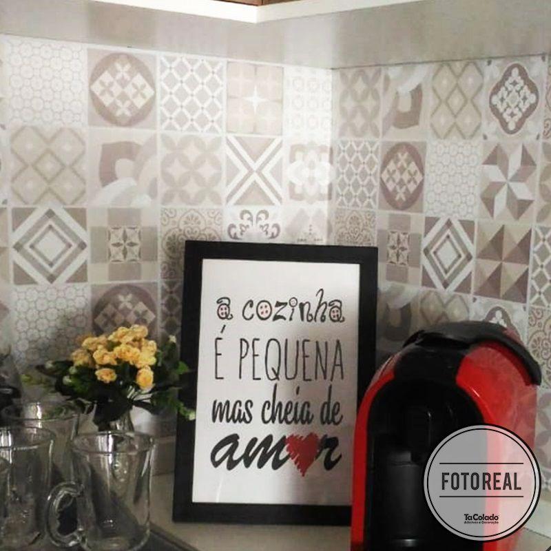 Outlet - Papel de Parede Azulejo para Cozinha Coimbra 0,49x1,00m  - TaColado