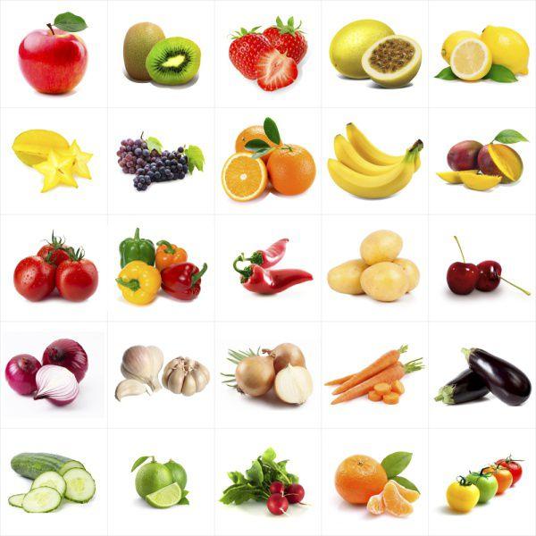 Outlet - Papel de Parede Azulejo Para Cozinha Frutas e Verduras 0,58x2,50m  - TaColado