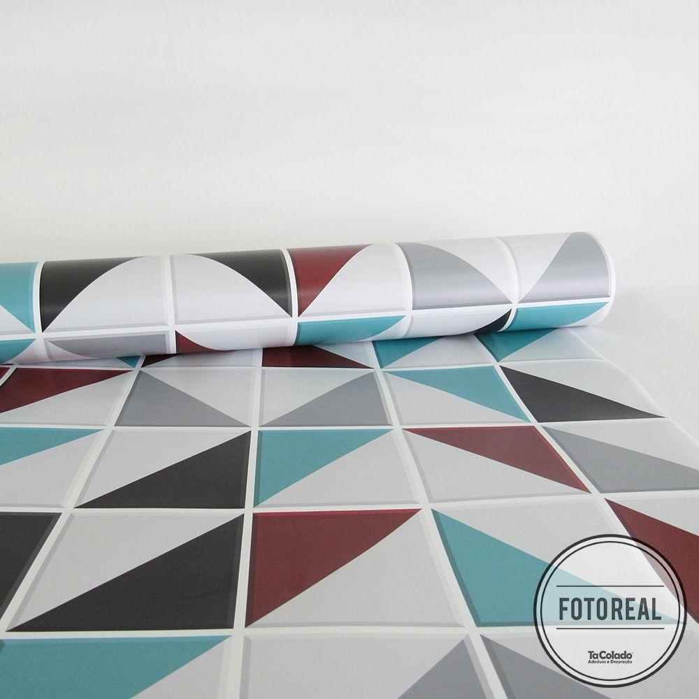 Outlet - Papel de Parede Azulejo para Cozinha Retângulo Vermelho 0,58X2,80  - TaColado