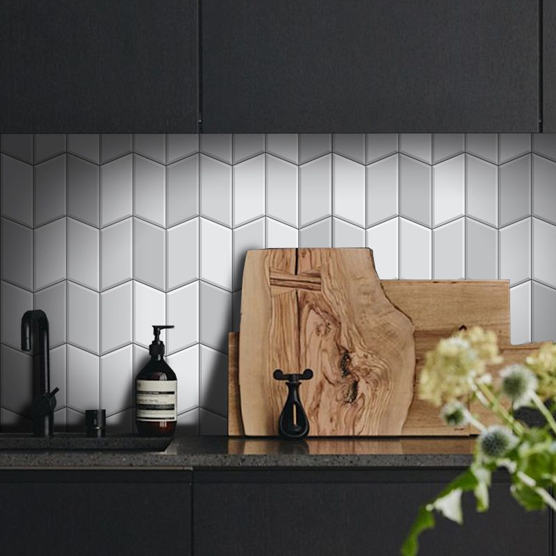 Outlet - Papel de Parede Azulejo para Cozinha Tile Cinza 0,58x1,70m  - TaColado