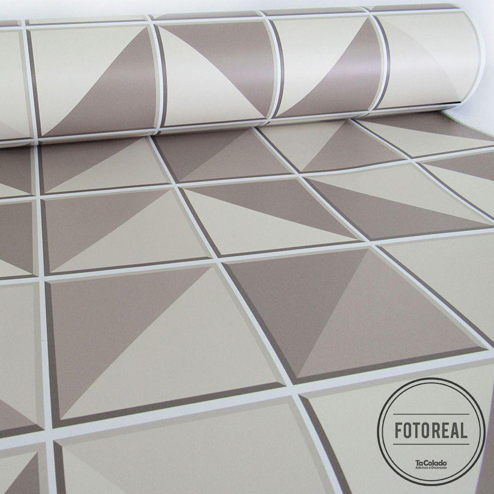 Outlet- Papel de Parede Azulejo Retângulo Marrom 0,58x2,50m  - TaColado