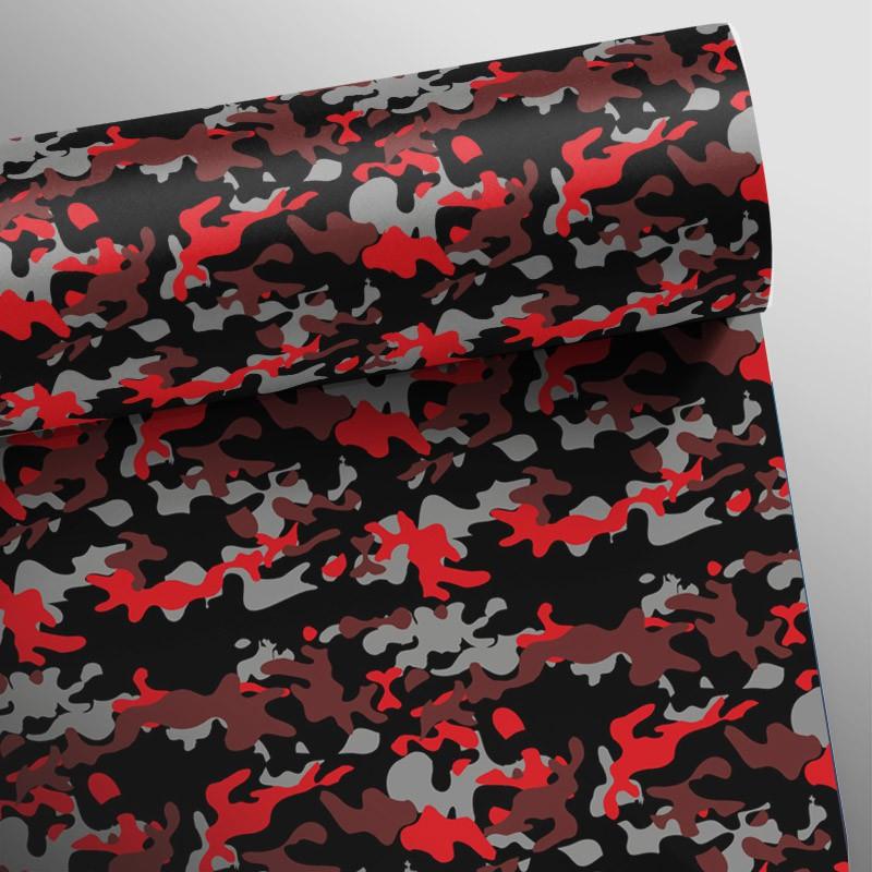 Outlet- Papel de Parede Camuflado Vermelho 0,58 x 2,80m  - TaColado