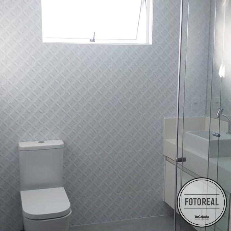 Outlet - Papel de Parede Círculos 3D Branco 0,58x2,60m  - TaColado