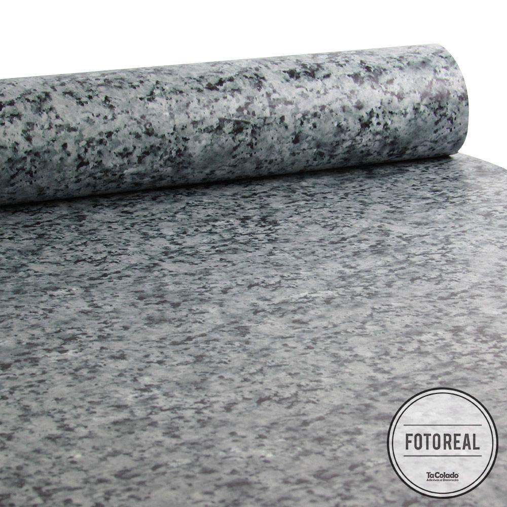 Outlet - Papel de Parede Granito Cinza Nobre 0,58x2,70m  - TaColado