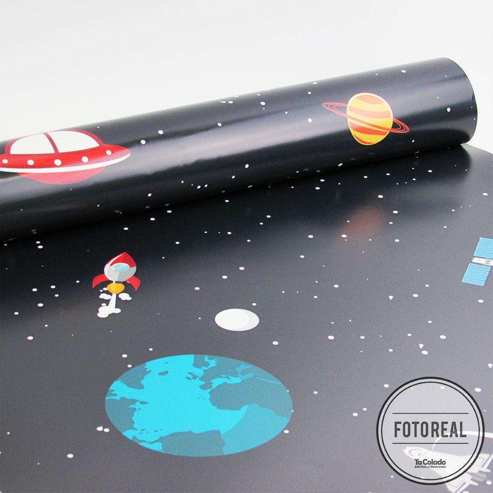 Outlet- Papel de Parede Infantil Espaço 0,58x2,30m  - TaColado