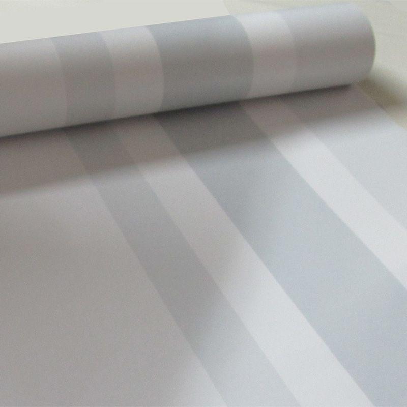 Outlet - Papel de Parede Listras Médias Clear Cinza 0,58x2,50m  - TaColado