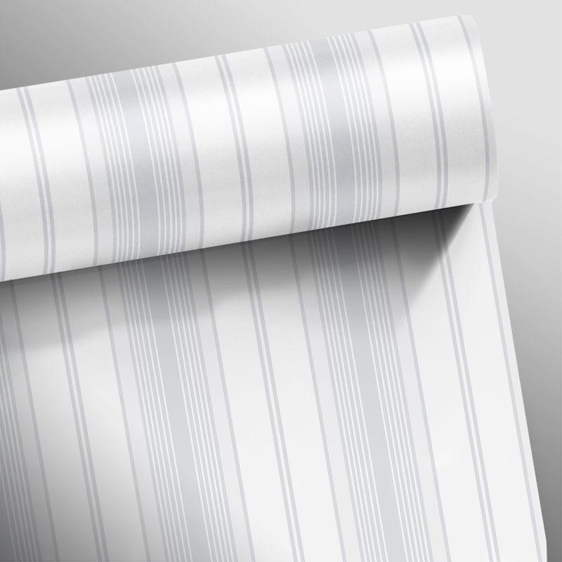 Outlet - Papel de Parede Listras Rápidas Mix Cinza 0,58 x 2,70m  - TaColado