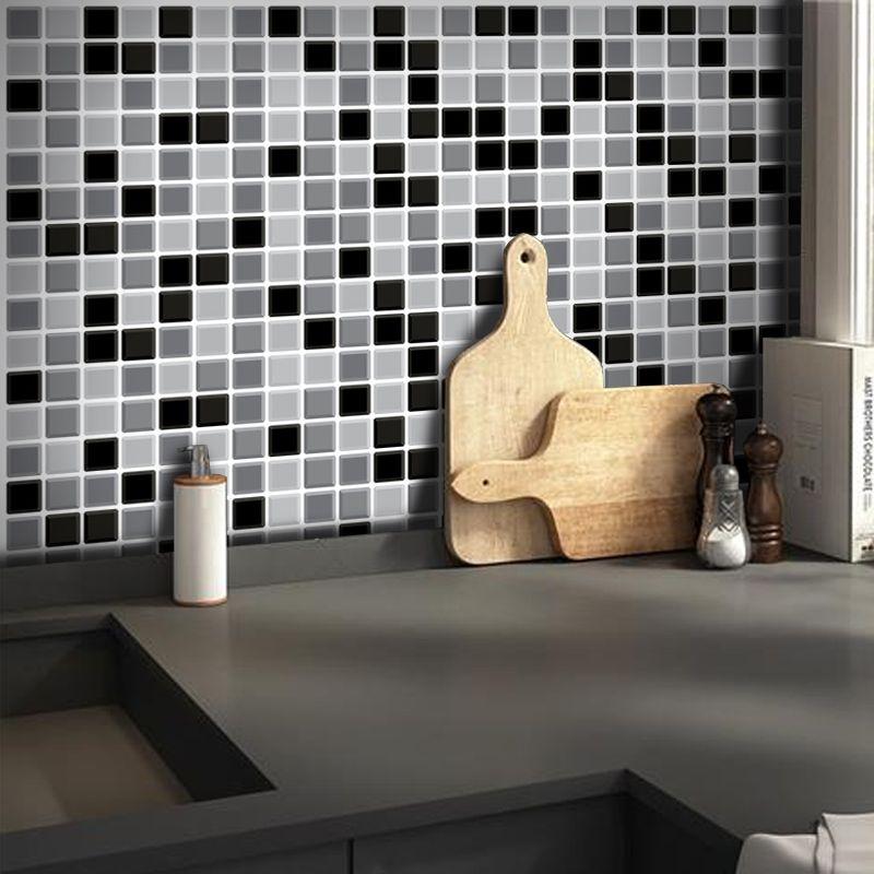 Outlet- Papel de Parede Pastilha 3D Mix Preto 0,56X3,00m  - TaColado