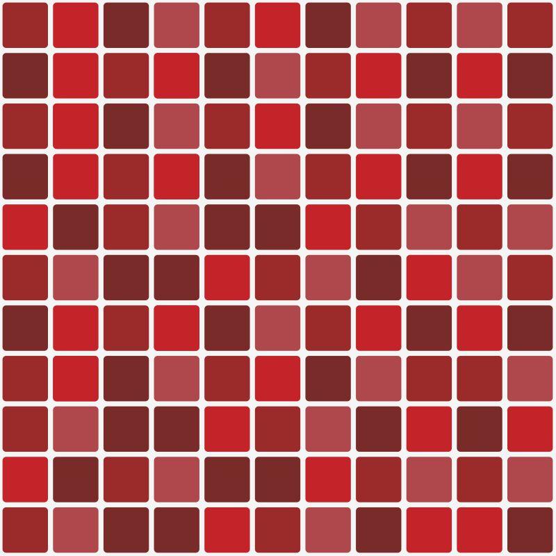 Outlet - Papel de Parede Pastilha para Cozinha Mix Vermelho 0,58x1,35m  - TaColado
