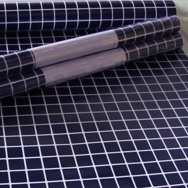 Outlet - Papel de Parede Pastilhas Azul Marinho 0,58 x 2,00m  - TaColado