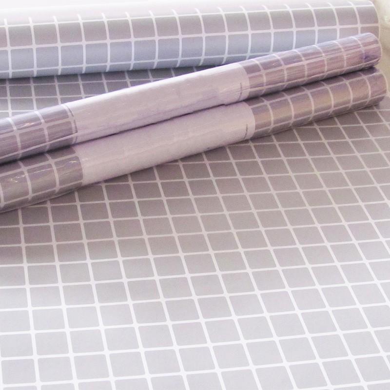 Outlet - Papel de Parede Pastilhas Cinza Claro 0,58 X 2,00m  - TaColado