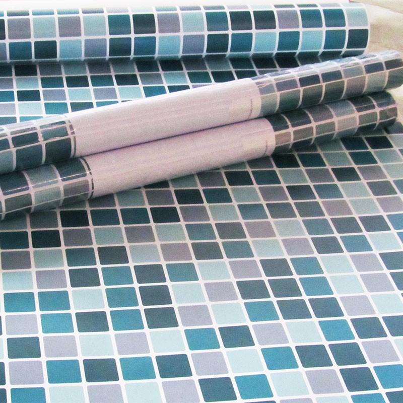 Outlet - Papel de Parede Pastilhas Mix Turquesa 0,58 x 2,00m  - TaColado