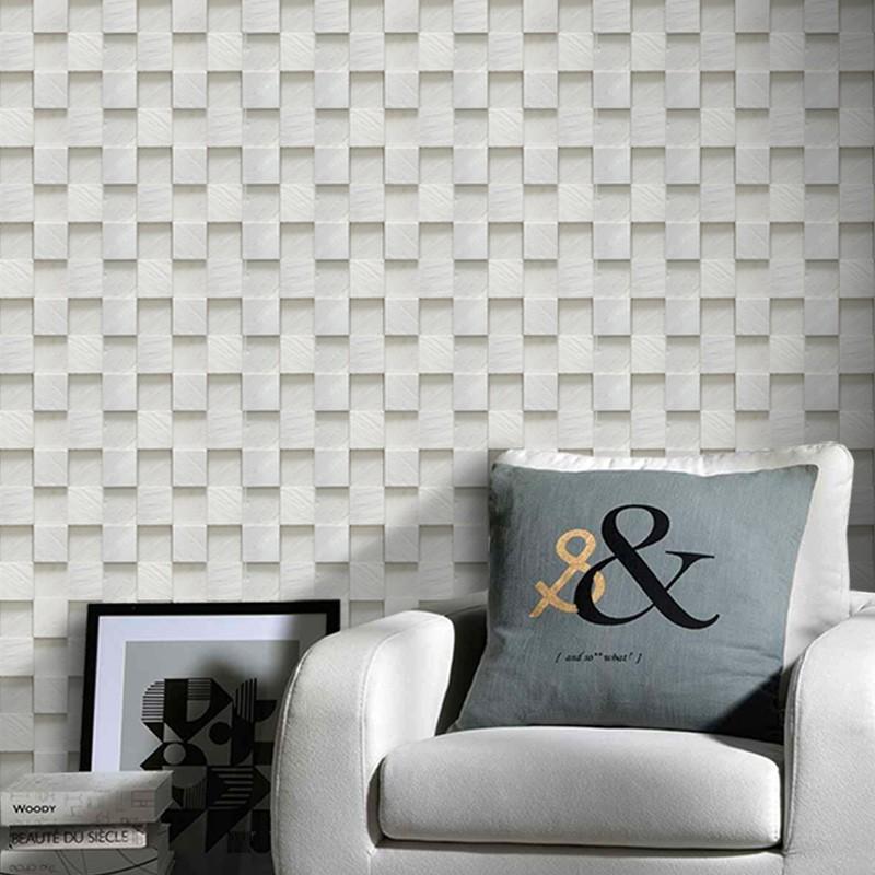 Outlet - Papel de Parede Pedra Mosaico Paris 0,52X2,90m  - TaColado