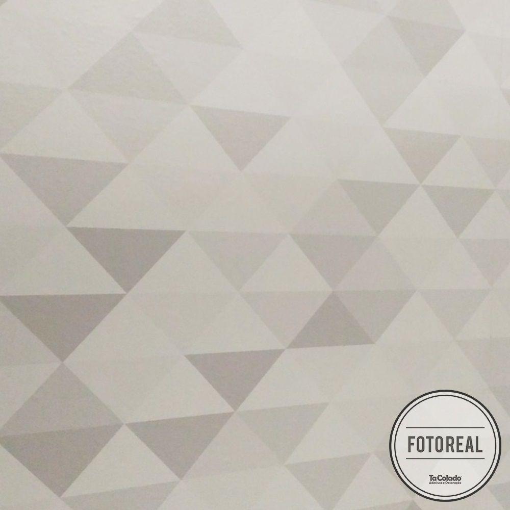 Outlet - Papel de Parede Triângulo Mix Marrom 0,58x2,60m  - TaColado