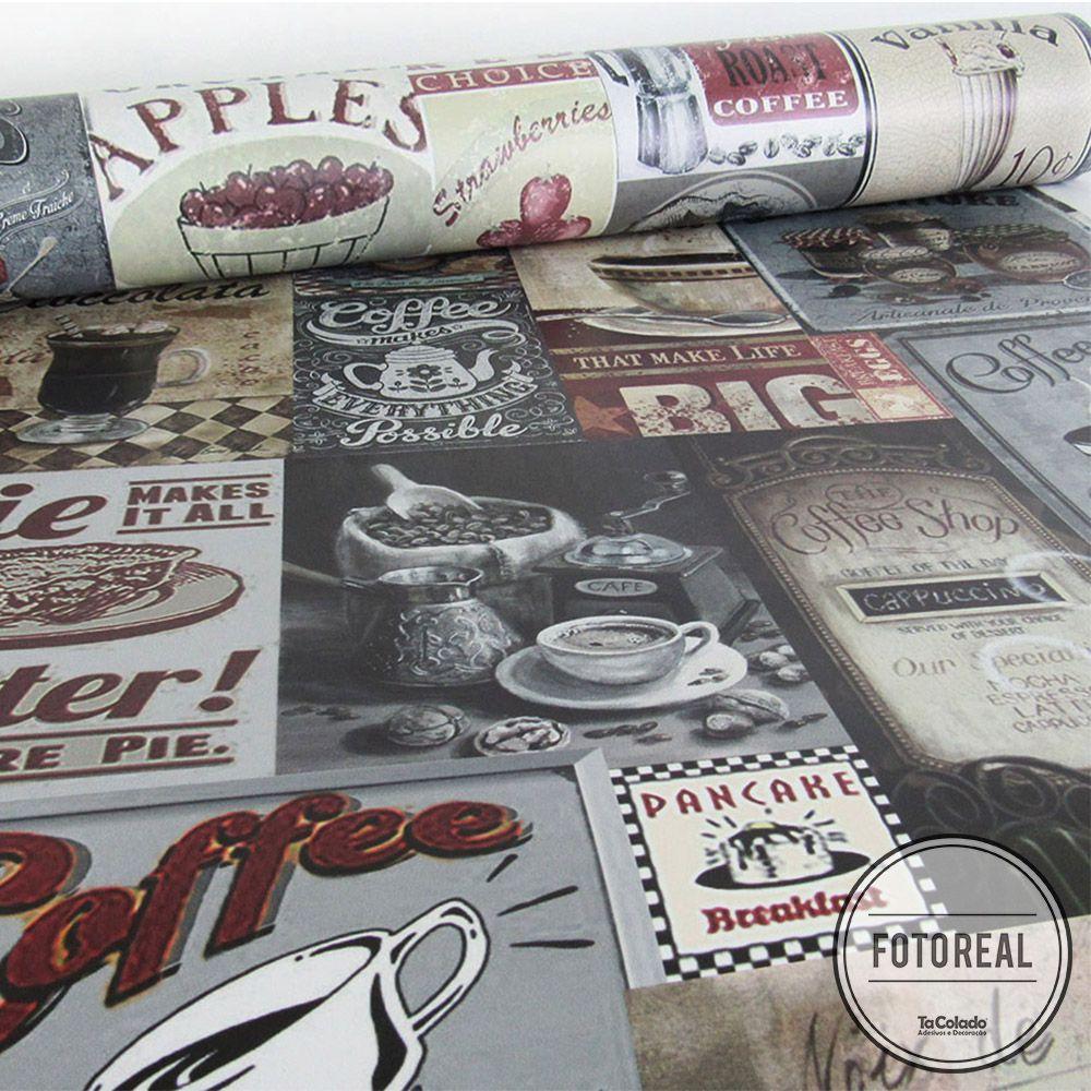 Outlet - Papel de Parede Vintage Breakfast 0,58x2,50m  - TaColado