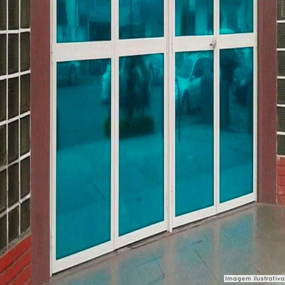 Outlet - Película Solar Espelhado Azul 0,75x5,00m  - TaColado