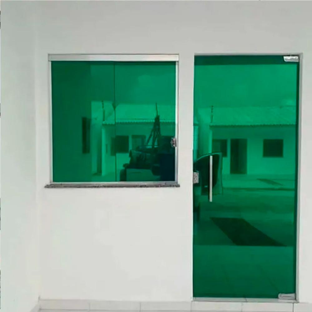 Outlet - Película Solar Espelhado Verde 0,75m  - TaColado