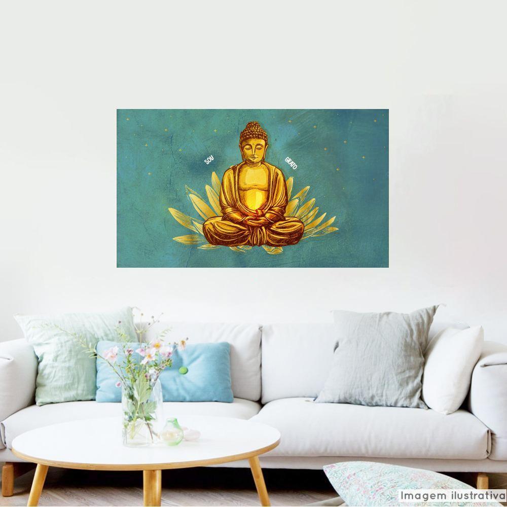 Painel Adesivo Metálico Buda  - TaColado