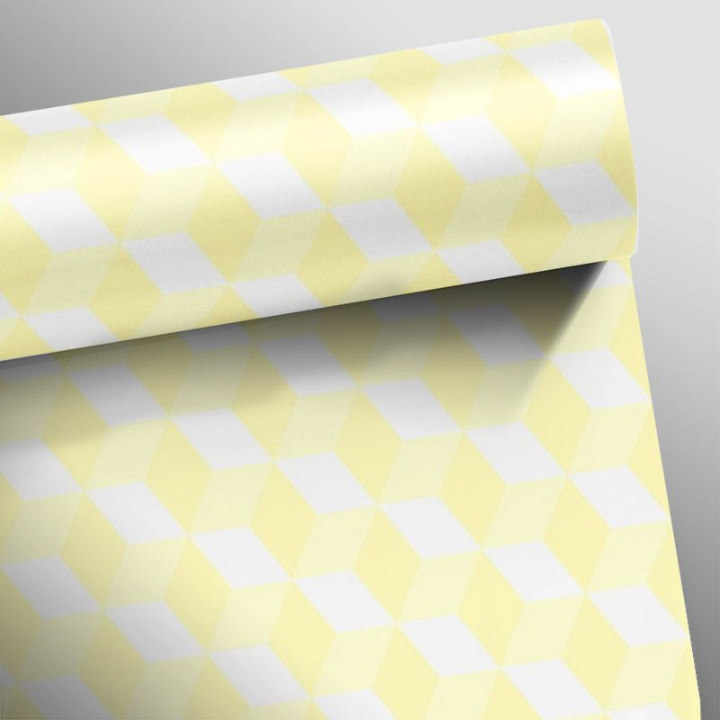 Queima de Estoque - Papel de Parede 3D Cubo Clear Várias Cores  - TaColado