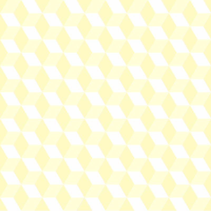 Black November - Papel de Parede 3D Cubo Clear Amarelo  - TaColado