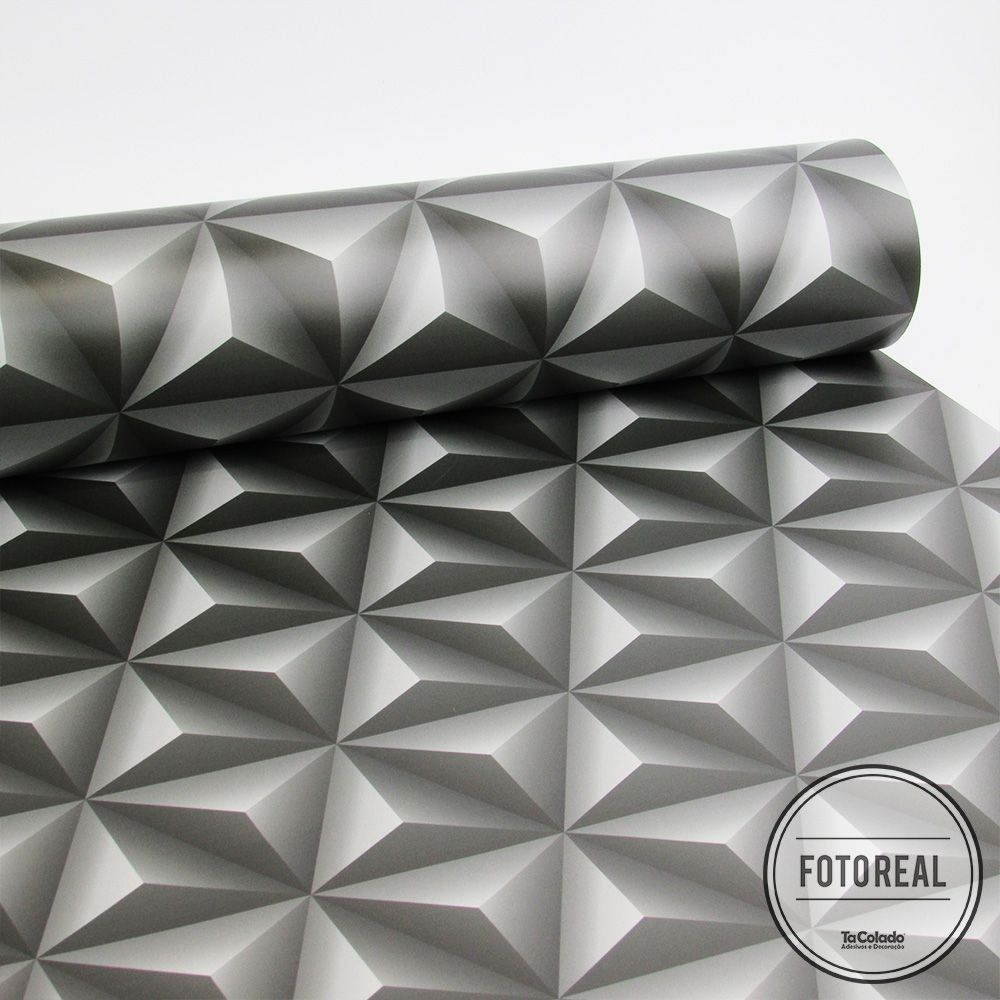 Queima de Estoque - Papel de Parede 3D Triângulo Classic Várias Cores  - TaColado
