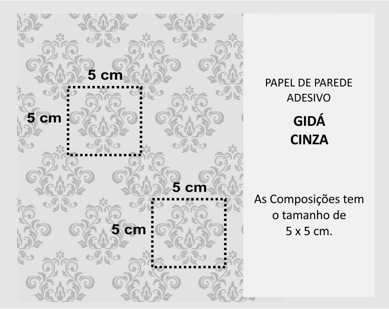 Queima de Estoque - Papel de Parede Arabesco Gidá Cinza  - TaColado