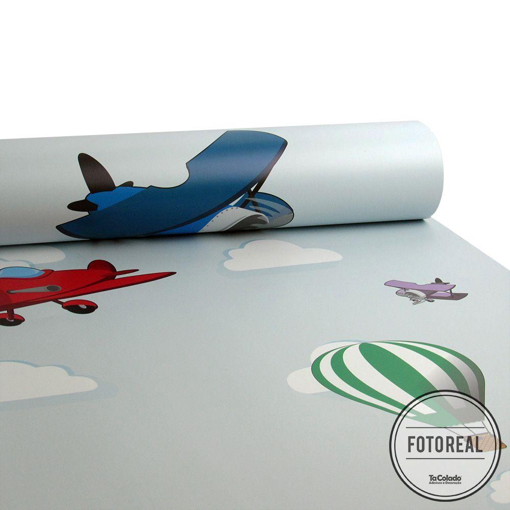 Papel de Parede Aviões  - TaColado