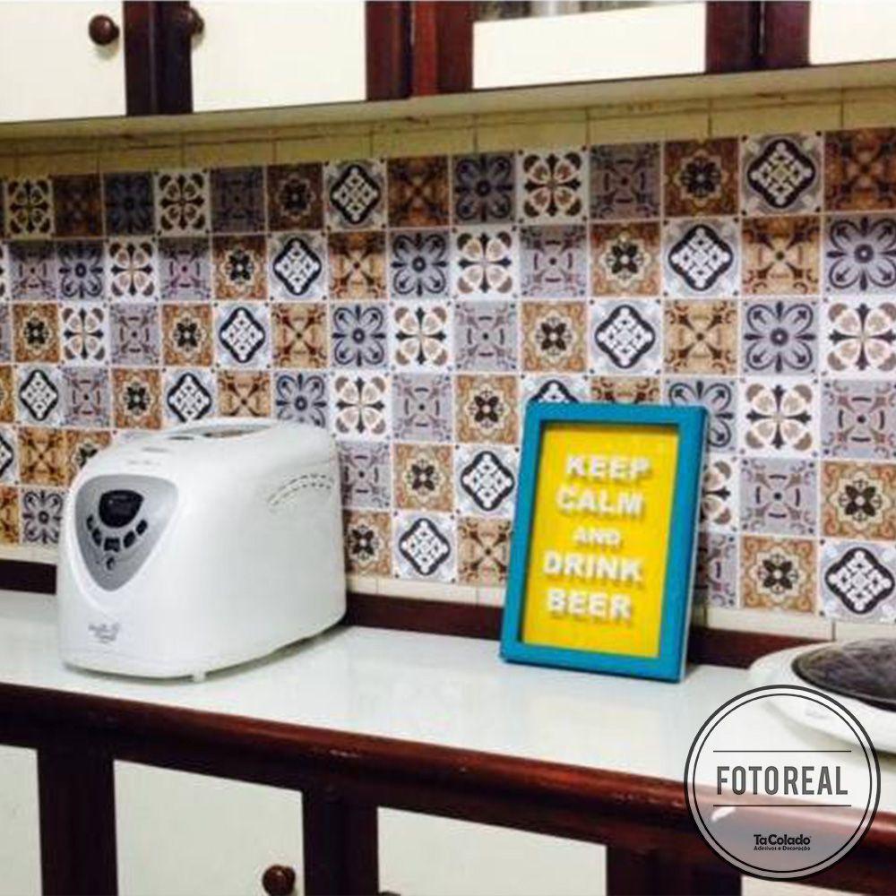 Papel de Parede Azulejo para Cozinha Barcelona  - TaColado