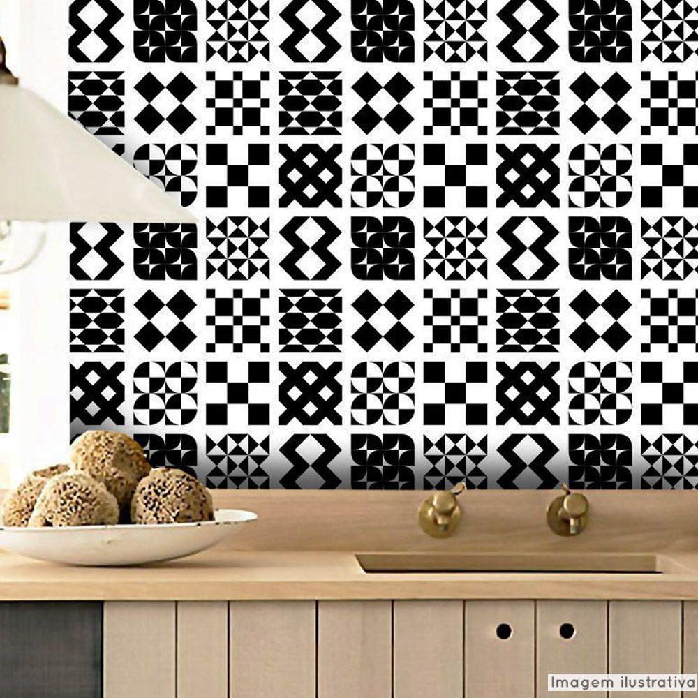 Papel de Parede Azulejo para Cozinha Átrio - Várias Cores  - TaColado