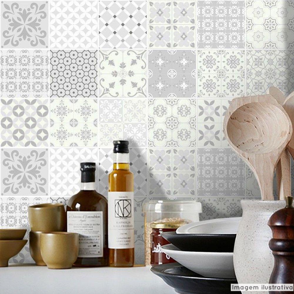 Papel de Parede Azulejo para Cozinha Aveiro  - TaColado