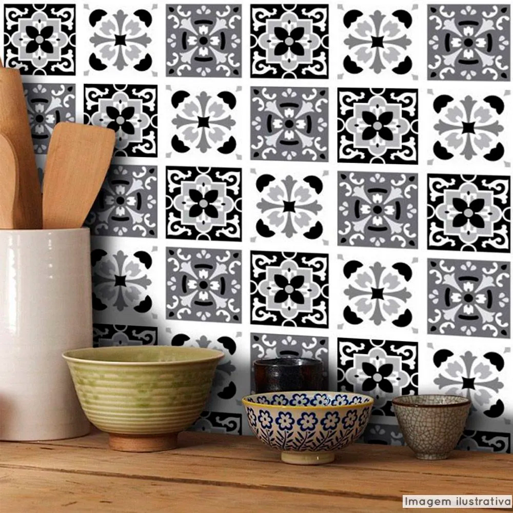 Papel de Parede Azulejo para Cozinha Badalona - Várias Cores  - TaColado
