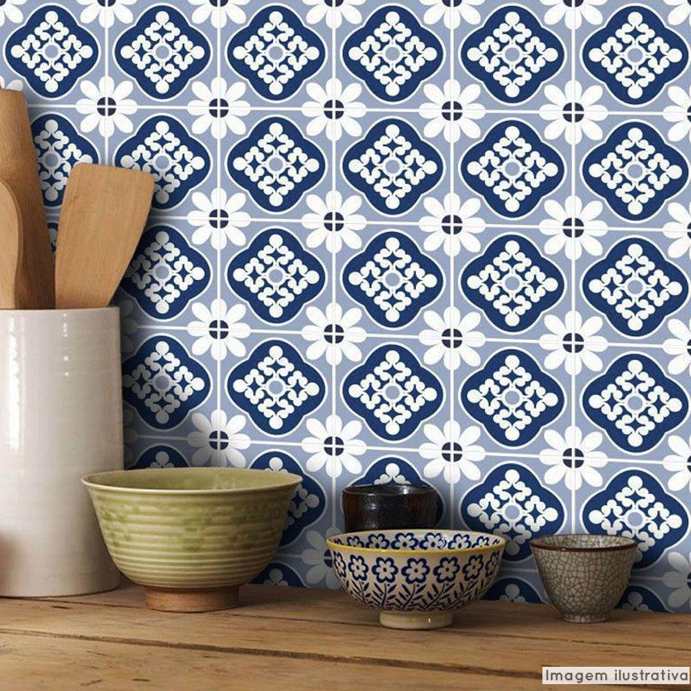 Papel de Parede Azulejo para Cozinha Blanes - Várias Cores  - TaColado