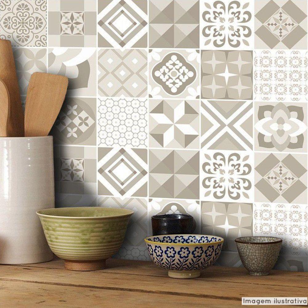 Papel de Parede Azulejo para Cozinha Coimbra  - TaColado