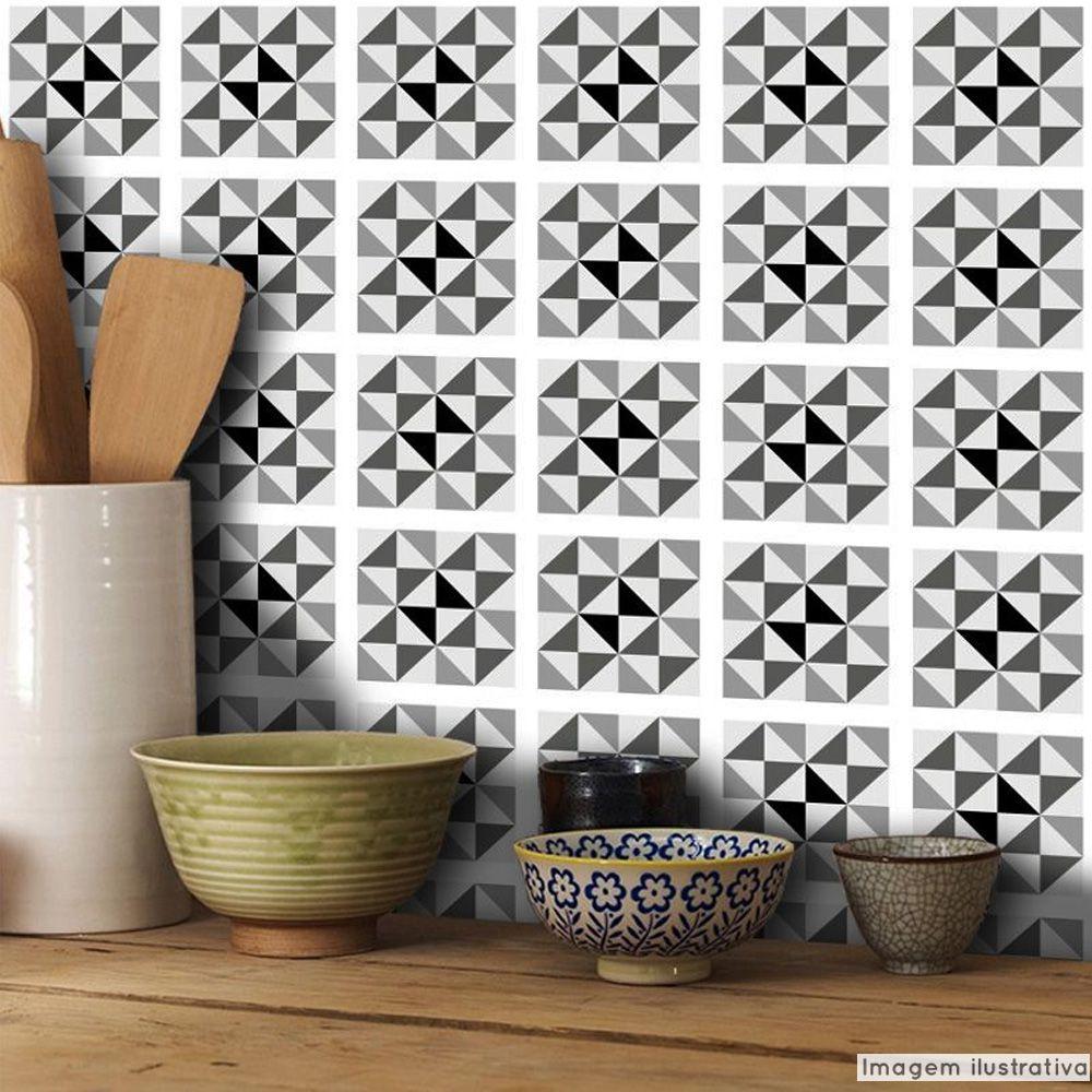 Papel de Parede Azulejo para Cozinha Delta - Várias Cores  - TaColado