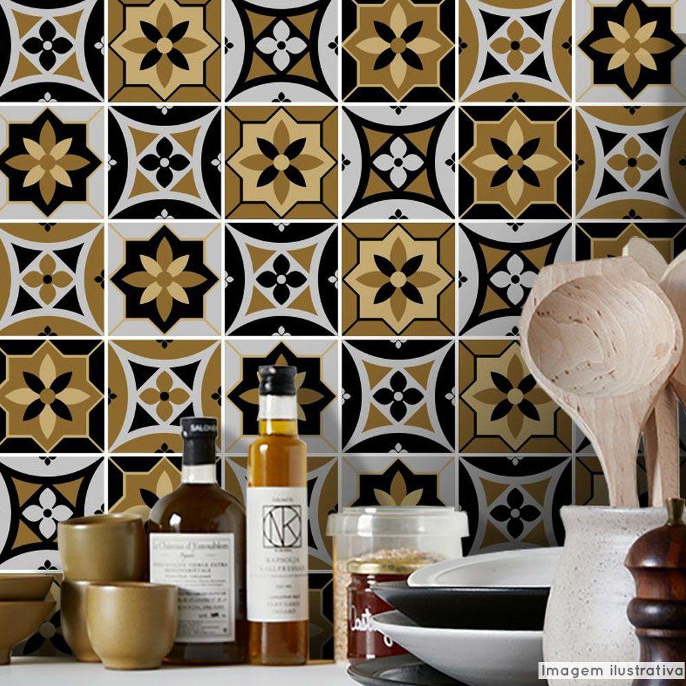 Papel de Parede Azulejo para Cozinha Funchal  - TaColado